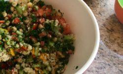 bowl of herby grain salad