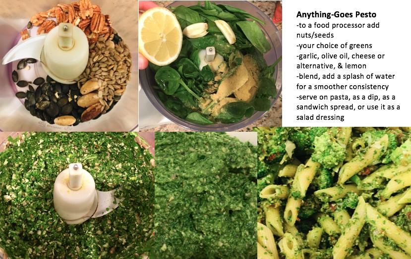 pesto recipe collage